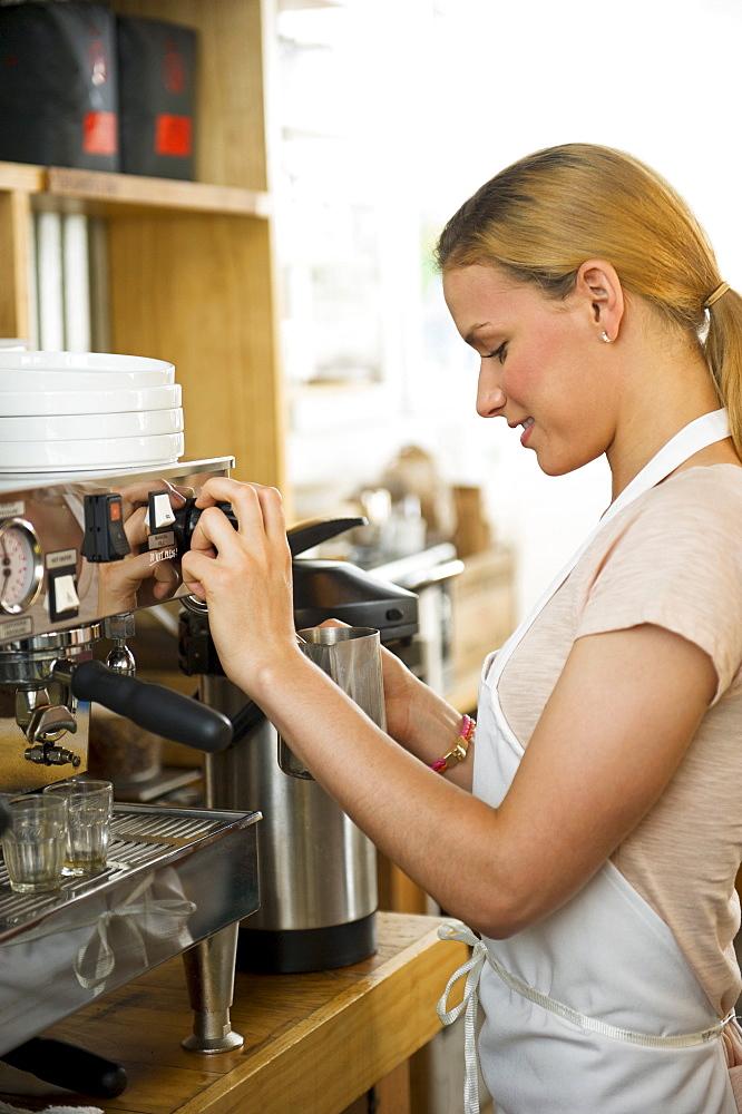 Female cafe owner