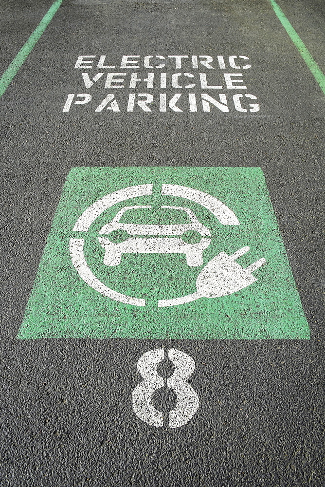 Parking space for charging electric vehicles, Portland, Oregon