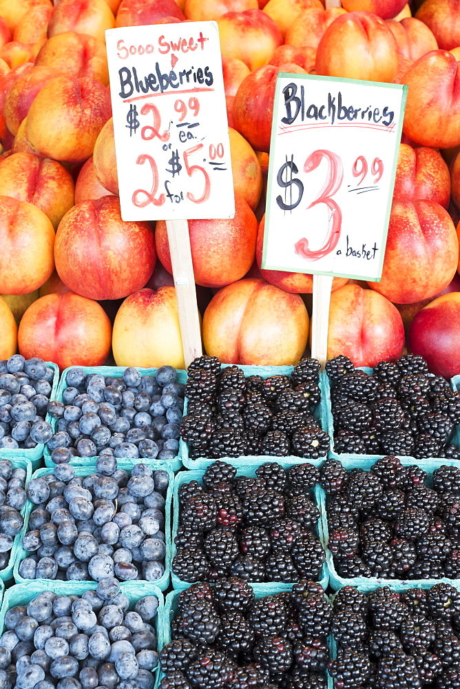 Close-up of fruits on market stall