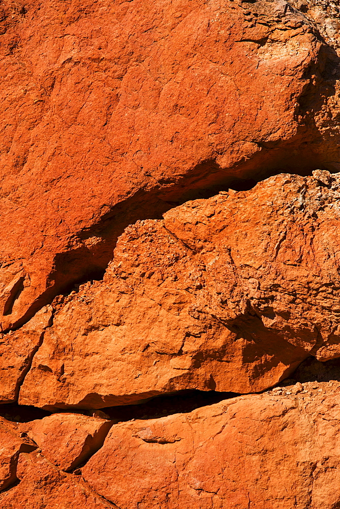 Navajo Loop Trail, Cracked rock, close-up, USA, Utah, Bryce Canyon