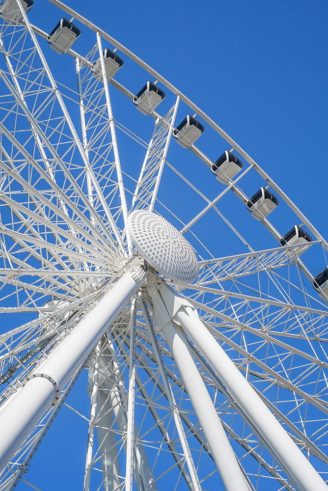 Low angle view of ferris wheel, Seattle, Washington