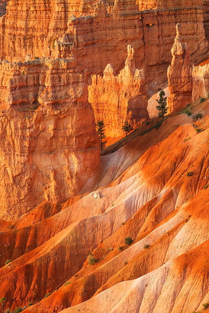 Rock formations at sunset, USA, Utah, Bryce Canyon