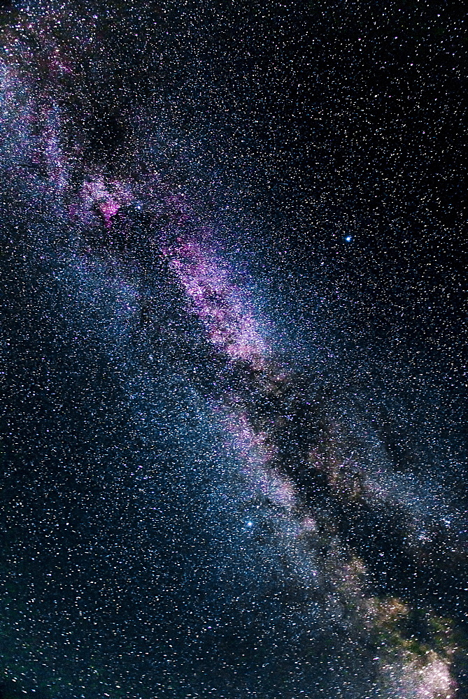 Milky way on night sky