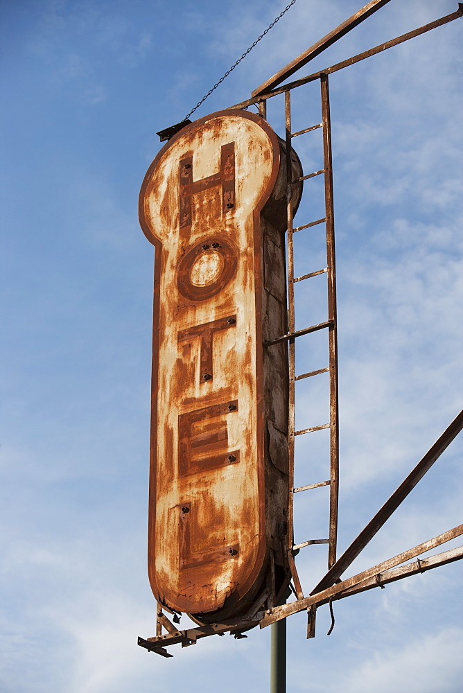 Rusty hotel sign, New York City