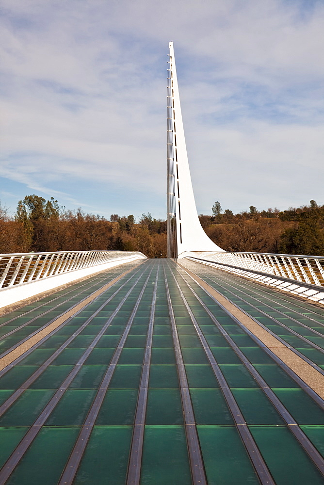 USA, California, Redding, sundial bridge, USA, California, Redding