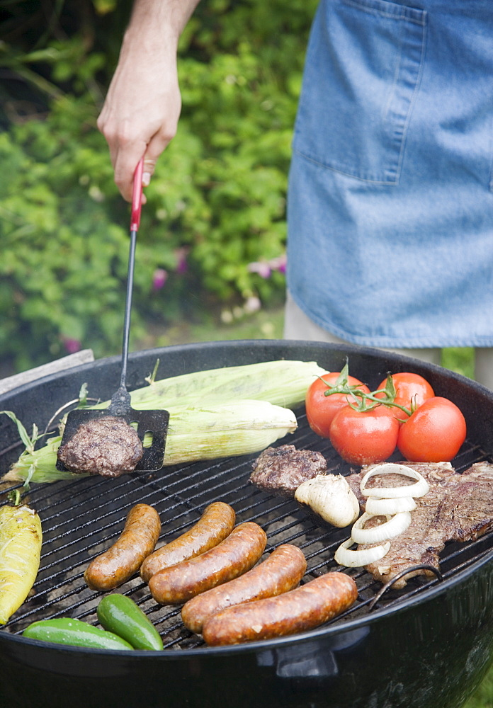 Grilling food outdoors in summer - 1178-16551