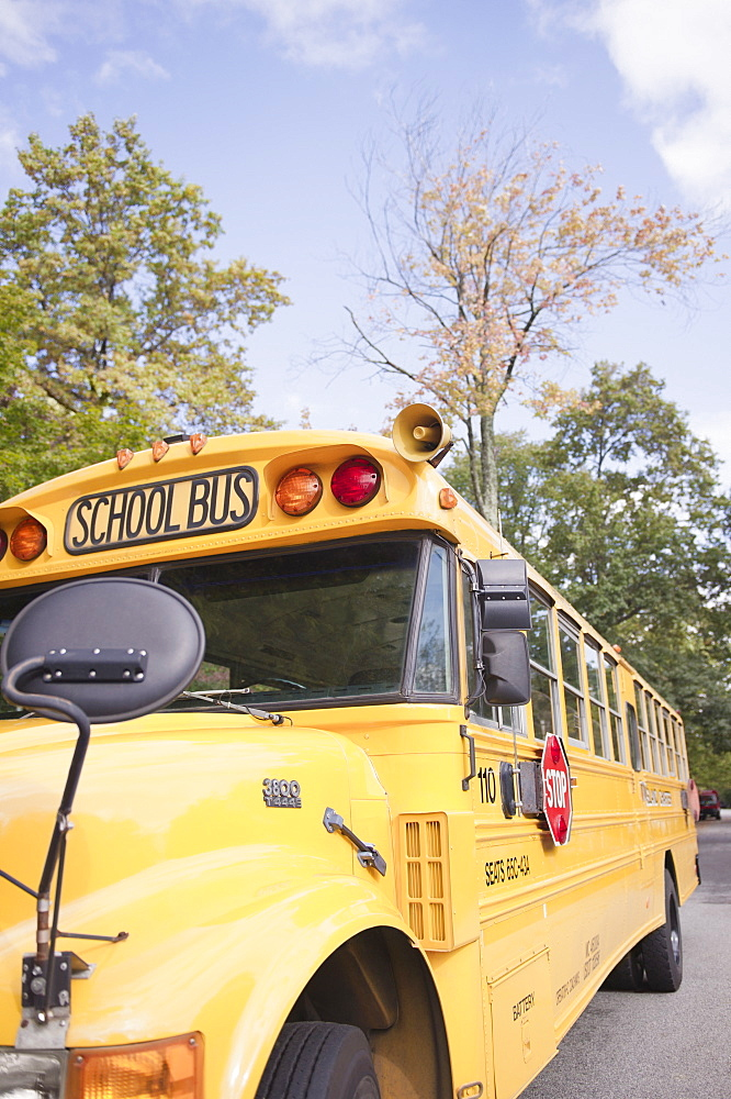 Close up of school bus