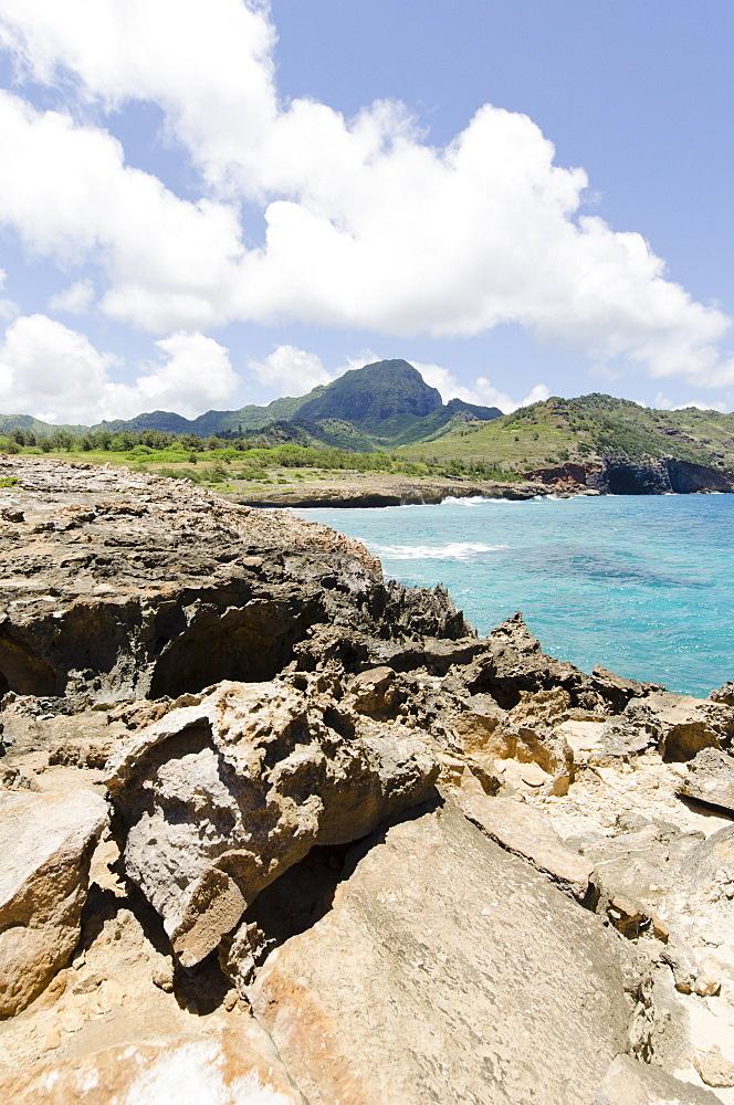 Maha'ulepu Beach, Rocky coast, USA, Hawaii, Kauai, Maha'ulepu Beach