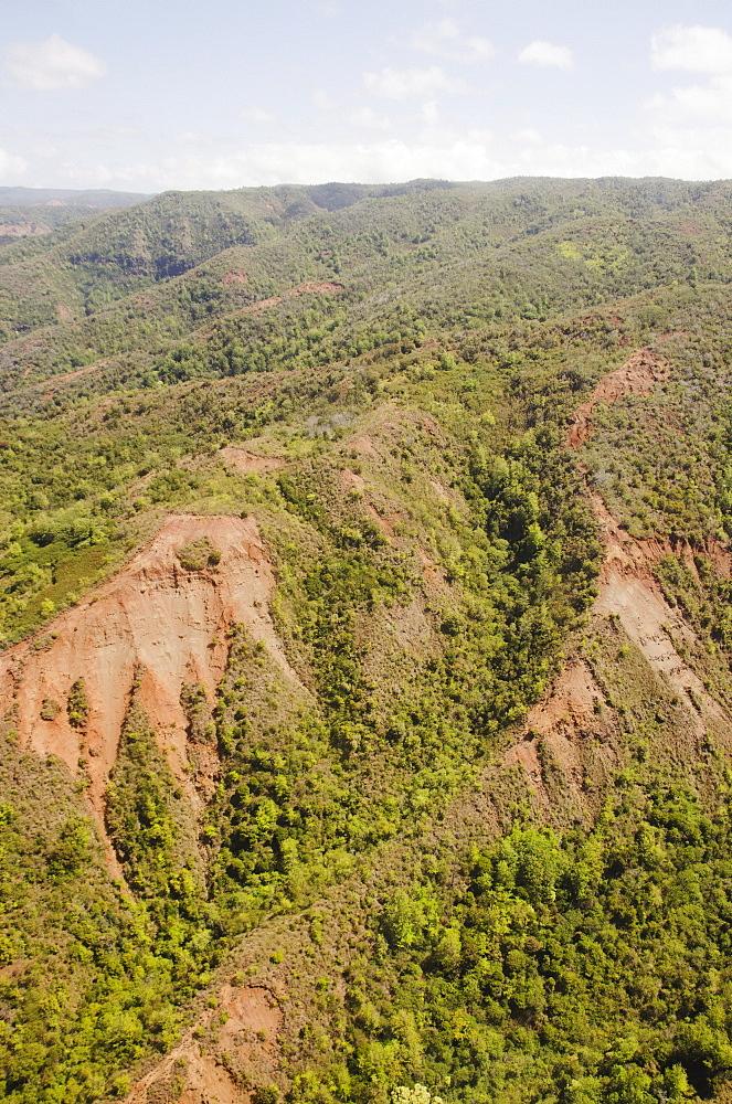 Elevated view of canyon, USA, Hawaii, Kauai, Waimea Canyon