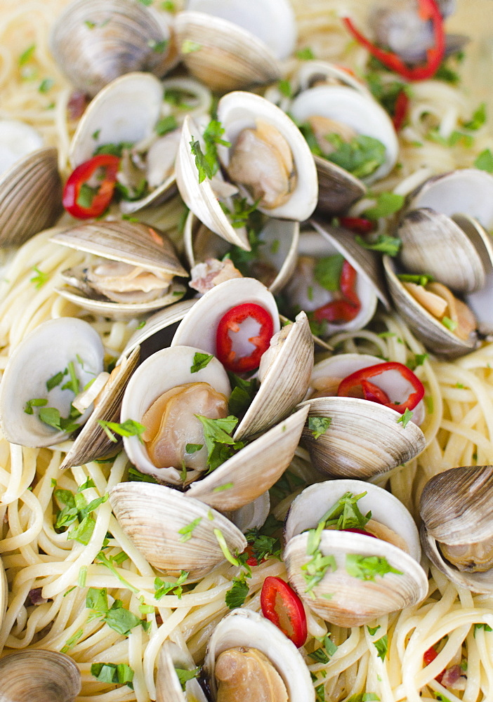 Pasta dish with mussels