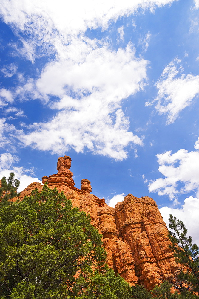 View of rock formations, USA, Utah, Bryce Canyon