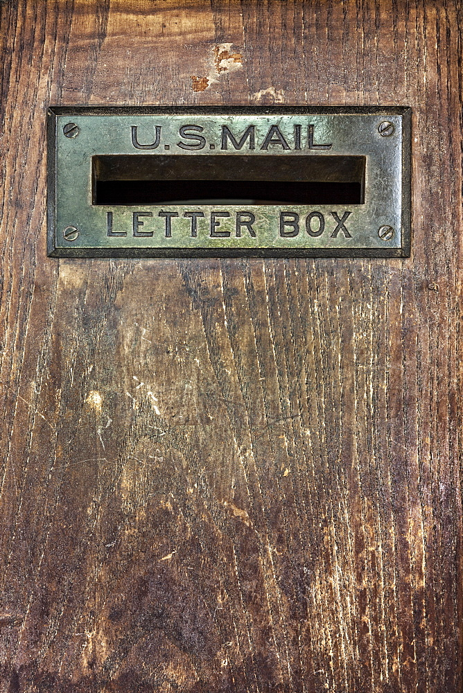 Close up of letter box