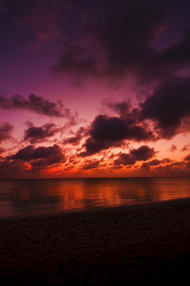 Aruba, sea at sunset