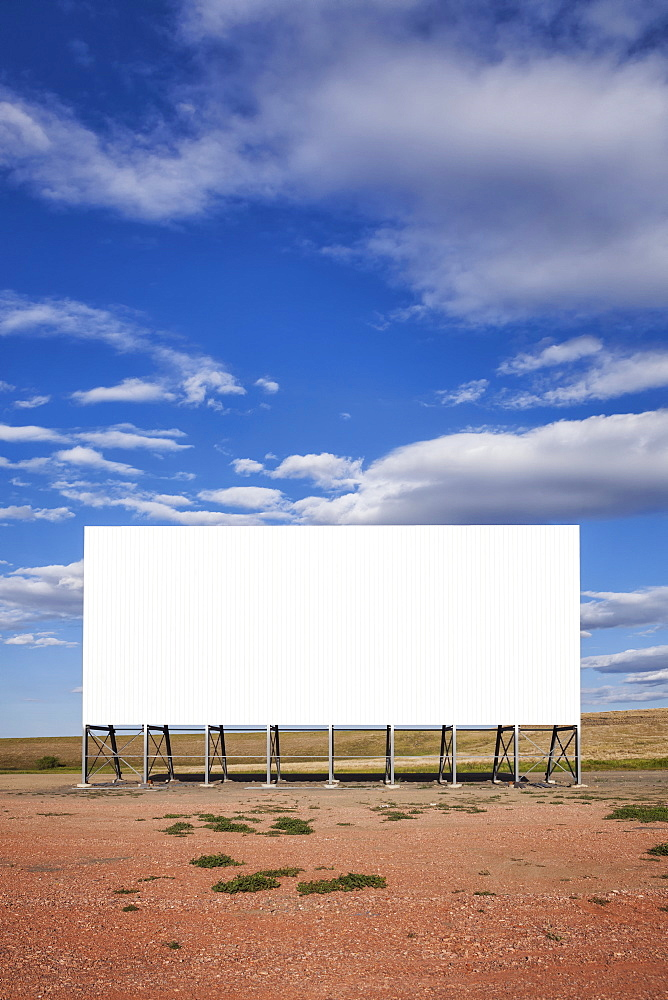 Blank billboard in the middle of nowhere, USA, South Dakota