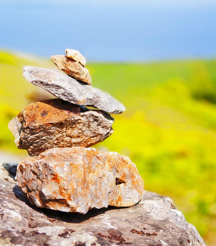 USA, Maine, Camden, Pile of stones, USA, Maine, Camden