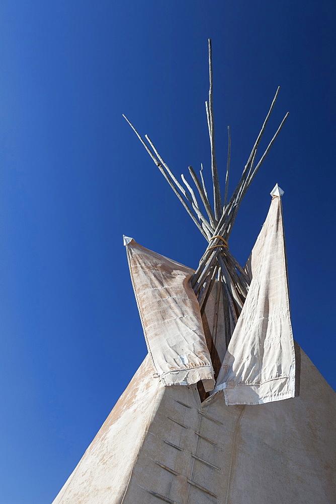 Low angle view of teepee, Black Hills, South Dakota