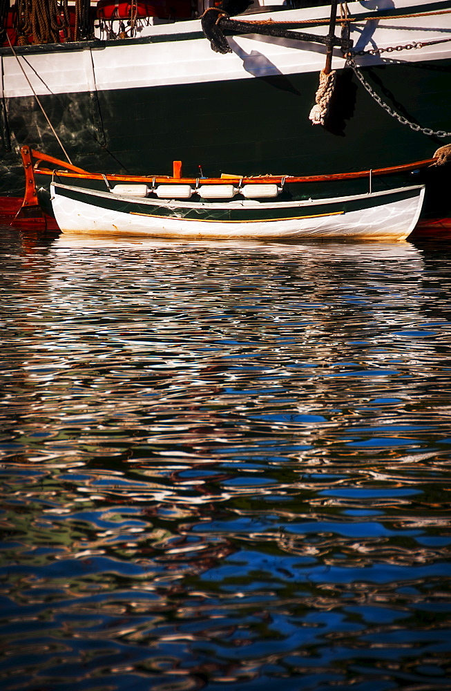 Small boat and water ripples, USA, Maine, Camden
