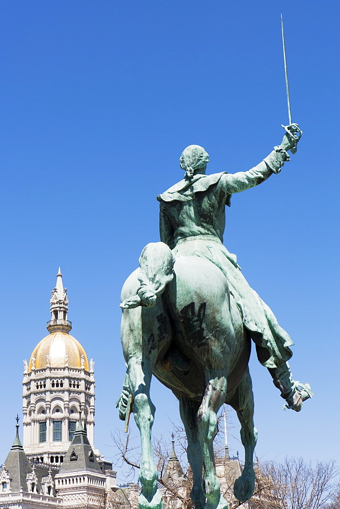 Capitol building statue, Hartford, Connecticut