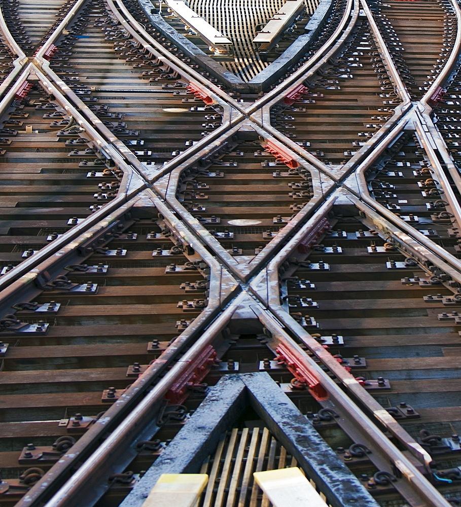 Railroad track, New York City, USA