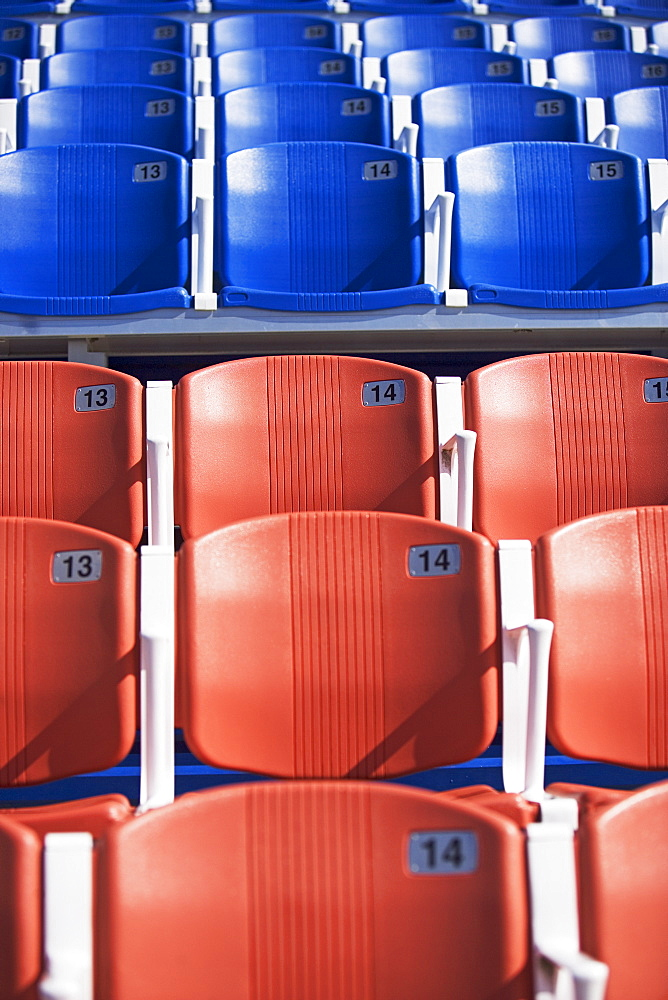 Numbered arena seating