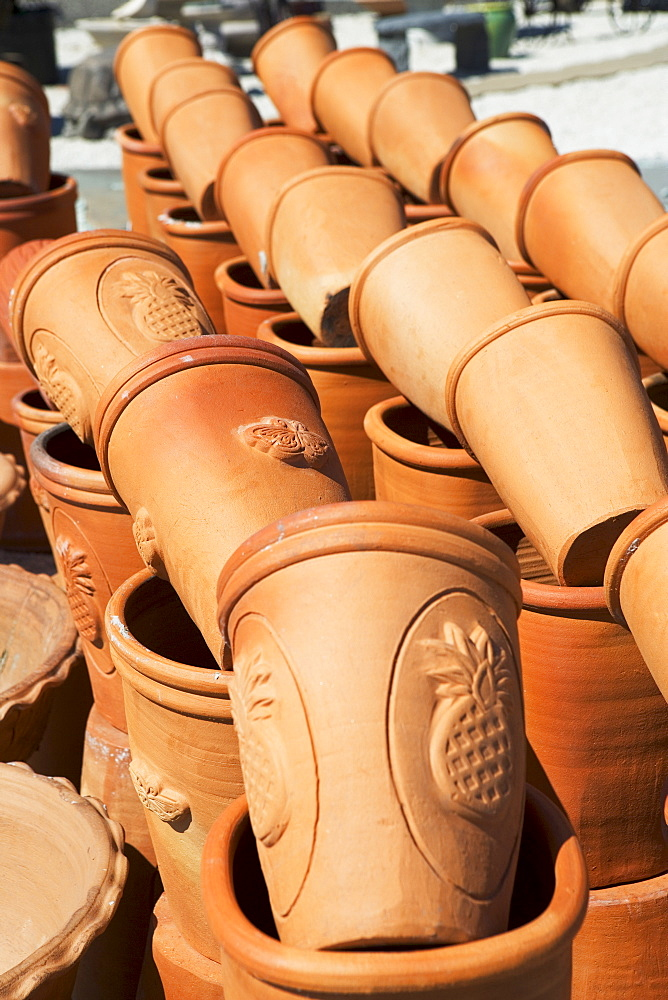 Rows of terra cotta pots