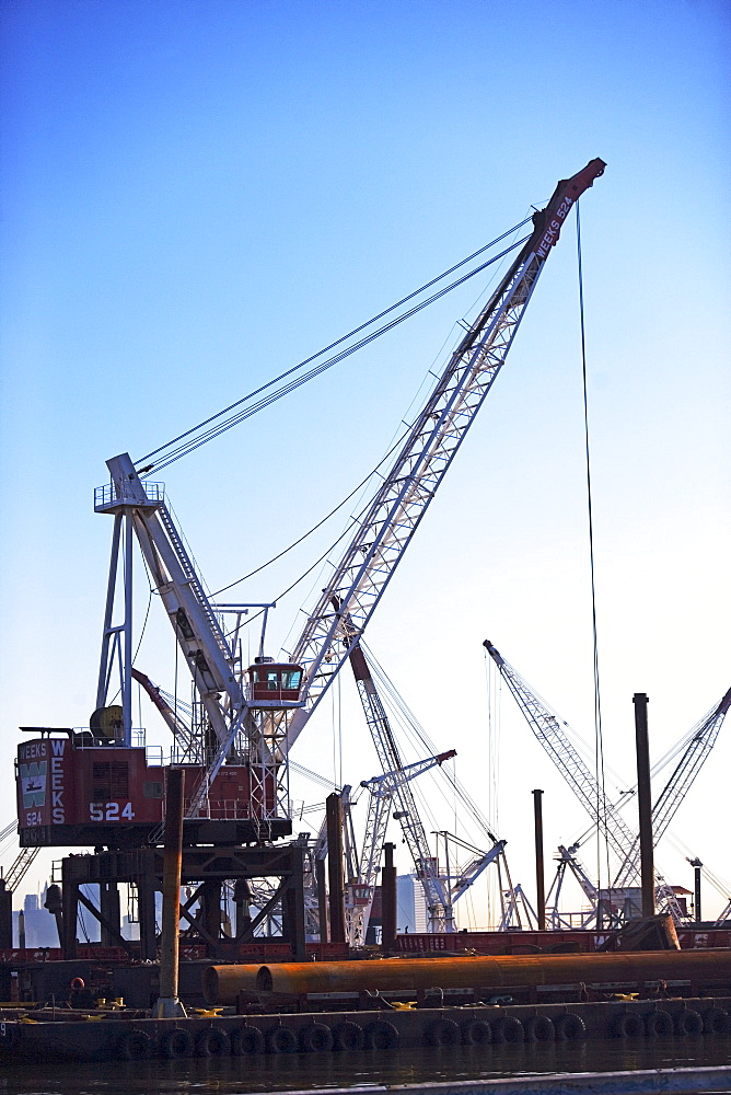 Cranes on dock
