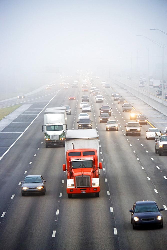 Traffic on large highway
