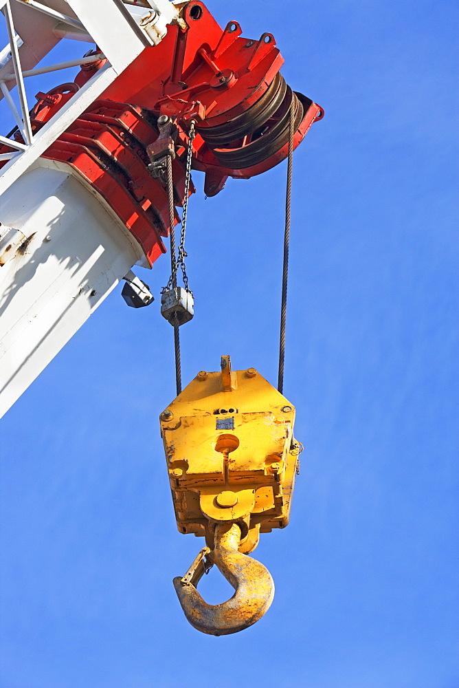 construction crane, hook