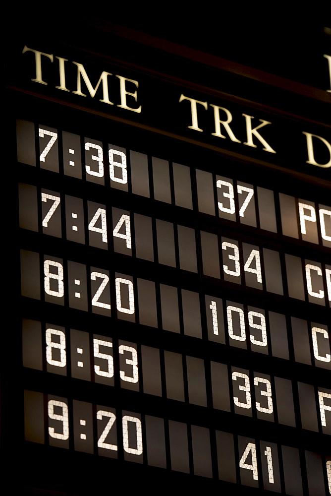 departure/arrival board