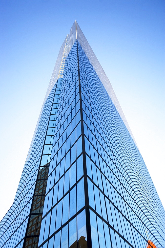 USA, Massachusetts, Boston, low angle view of skyscraper