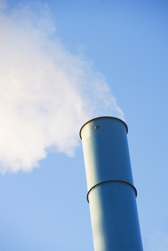Low angle view of smoke stack