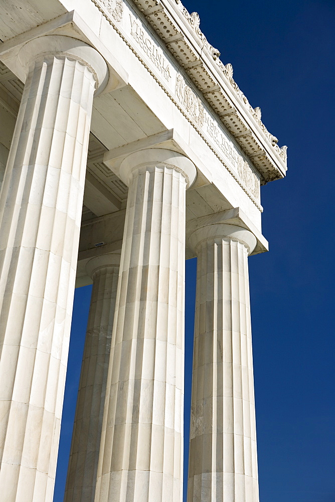 Doric columns of the Lincoln Memorial Washington DC USA