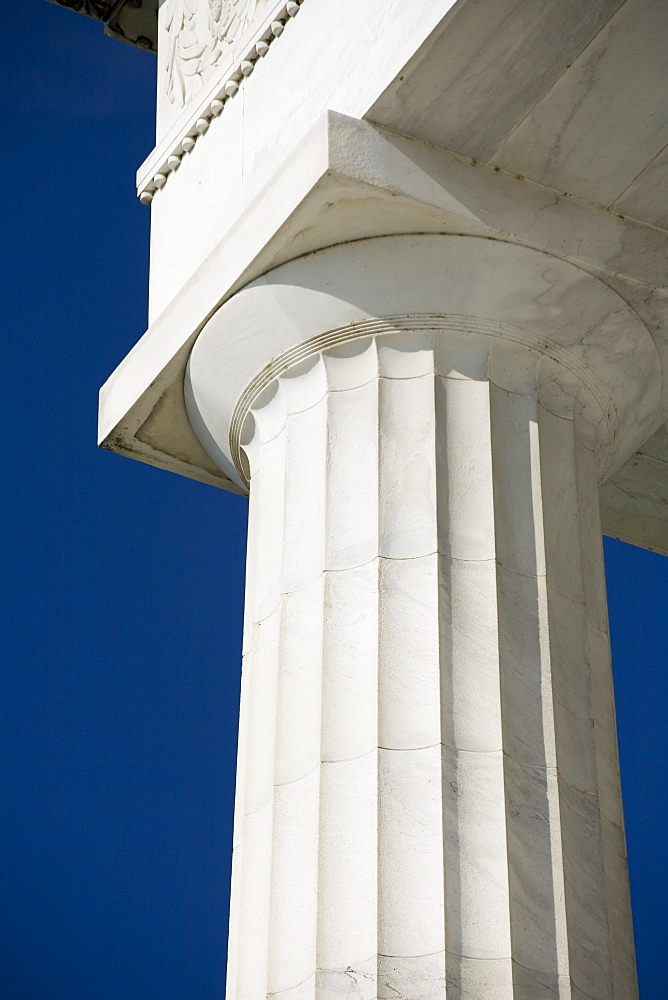 Doric column at the Lincoln Memorial Washington DC USA