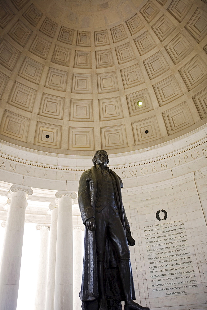 Interior of the Jefferson Memorial Washington DC USA