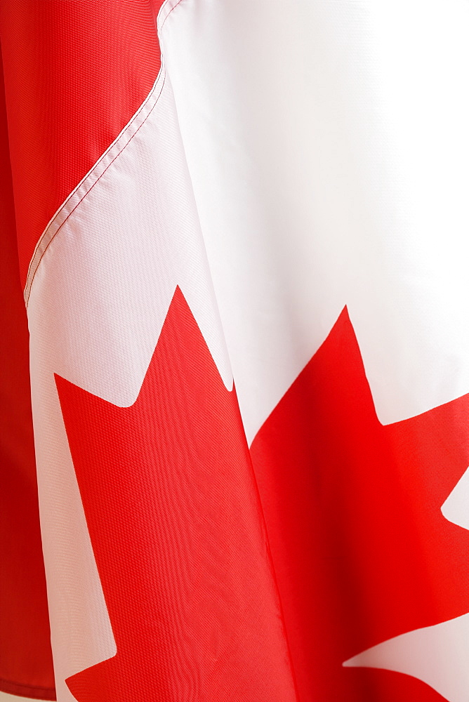 Close up of Canadian flag