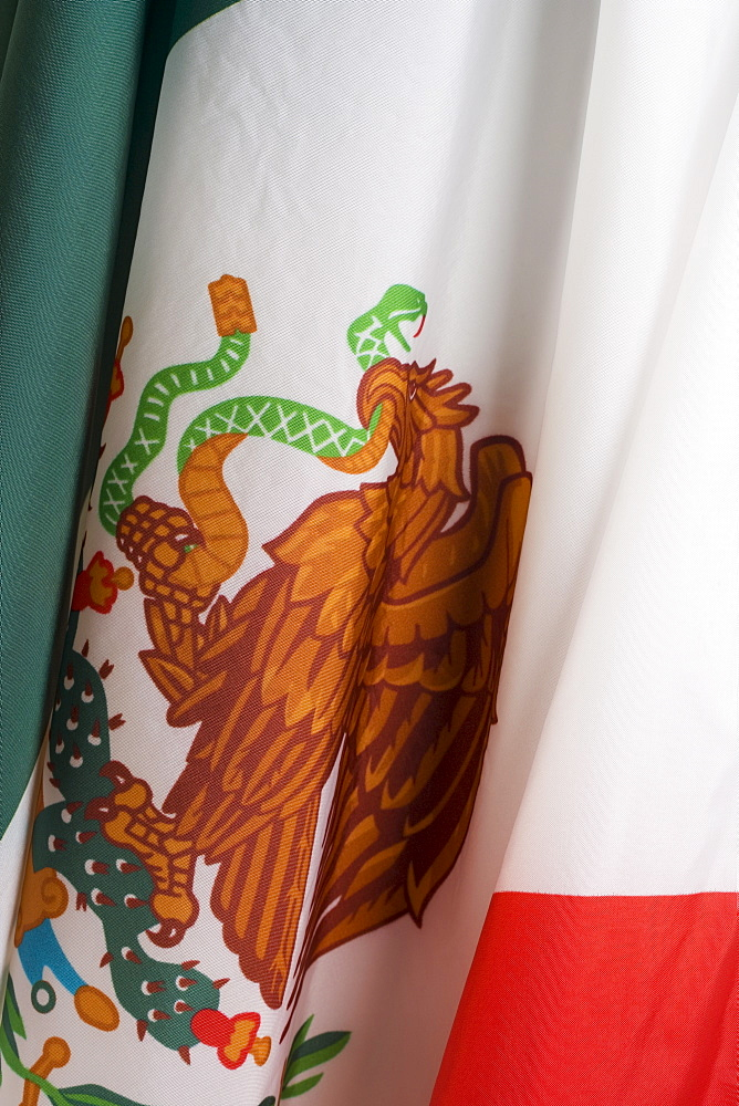 Close up of flag of Mexico