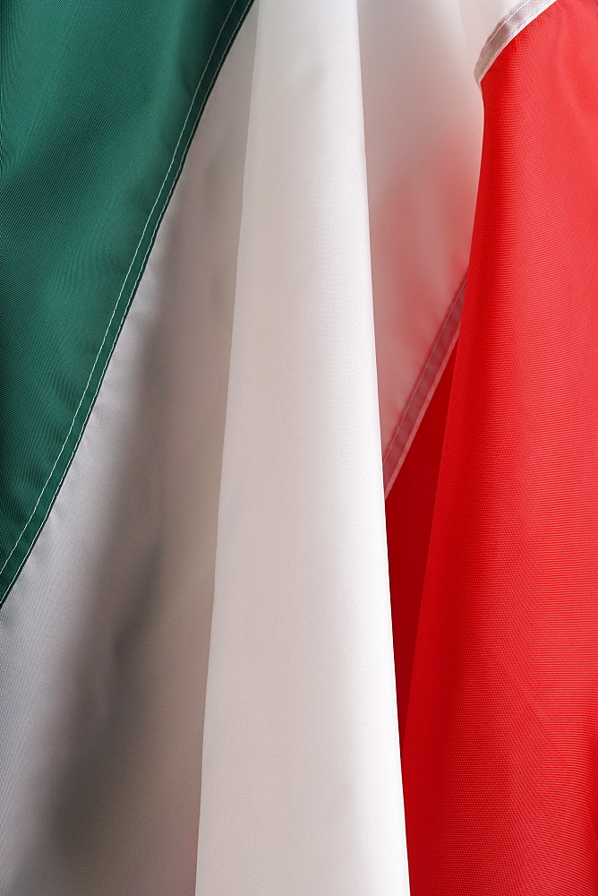 Close up of flag of Italy