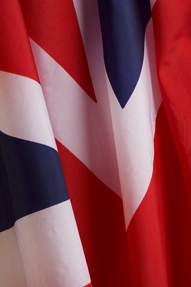 Close up of British flag