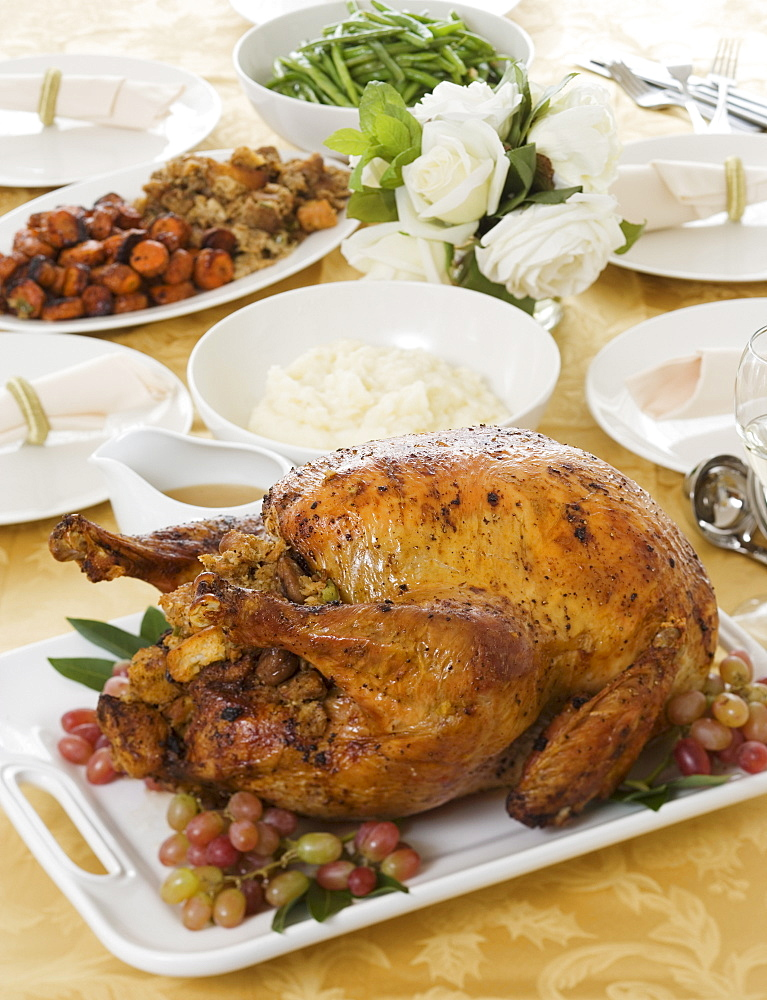 Table set for Thanksgiving - 1178-2225