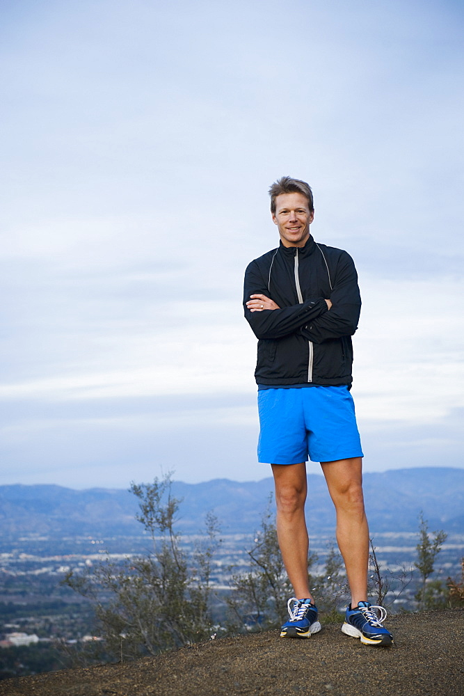 Portrait of trail runner