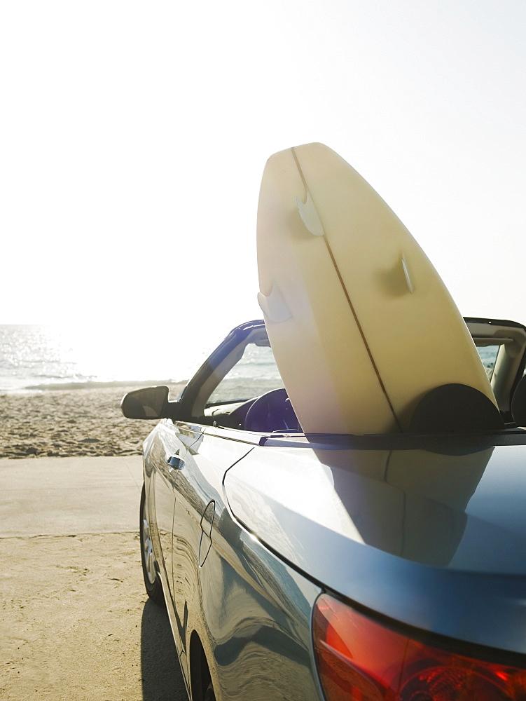 Surfboard in car