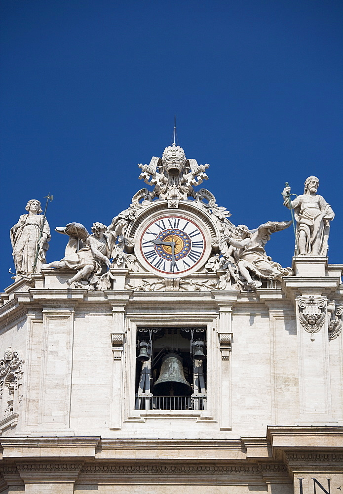 Clock on St. Peter's Basilica, Italy