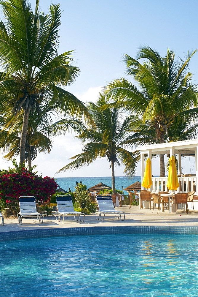Resort pool and restaurant, Turks & Caicos, Providenciales