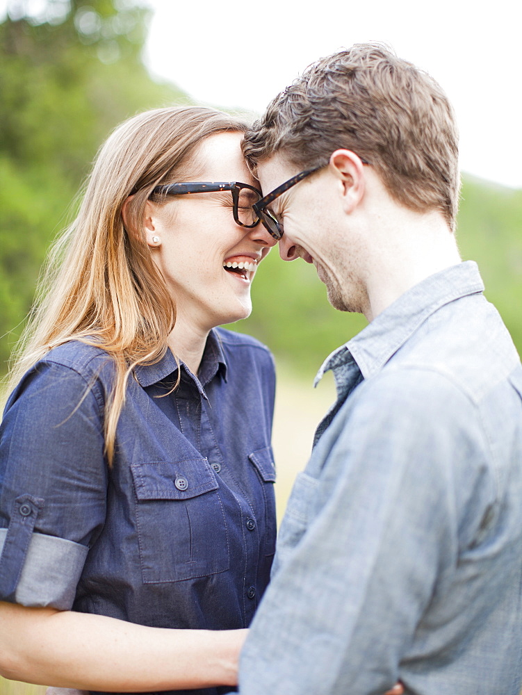 Portrait of young couple, USA, Utah, Salt Lake City