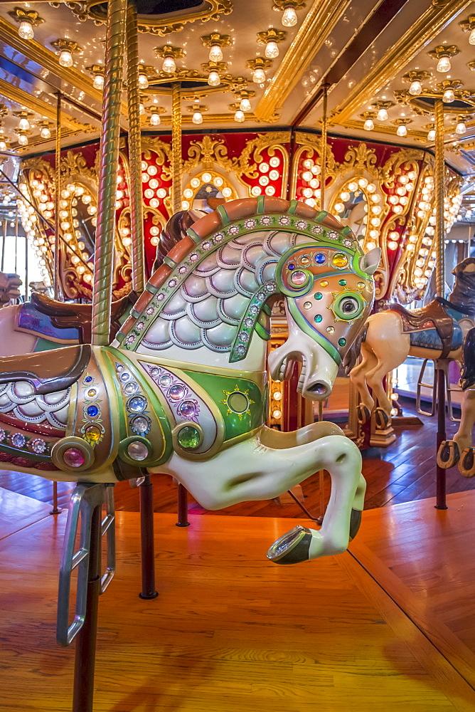 Close-up of carousel horse, Seattle, Washington