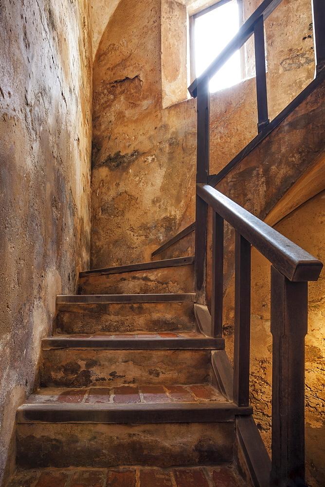 Morro Castle, Interior of old staircase, El Morro, San Juan, Puerto Rico