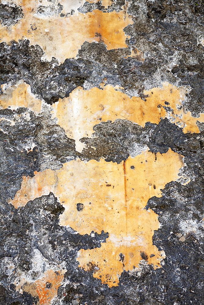 Peeling paint on old wall