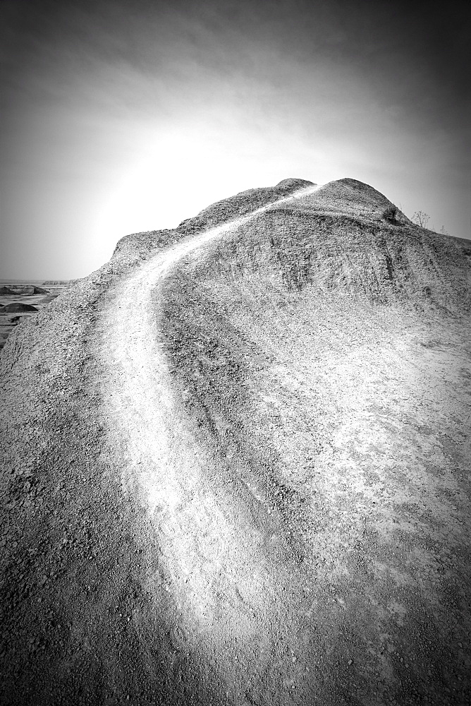 Footpath on hillside, USA, South Dakota, Badlands National Park