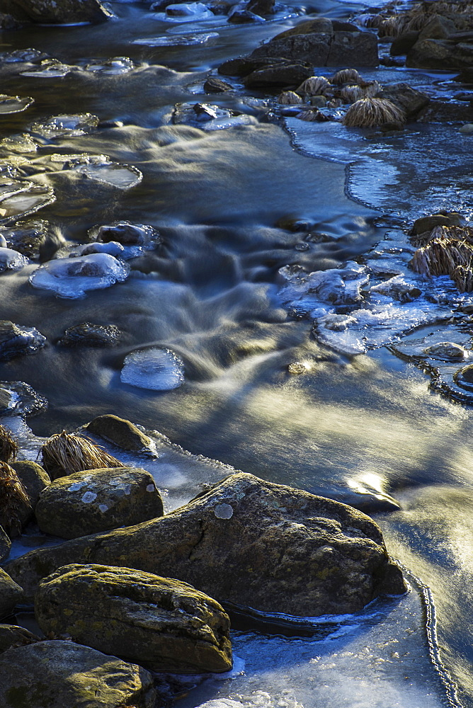 Stream in winter, Kent Falls State Park, Kent, CT