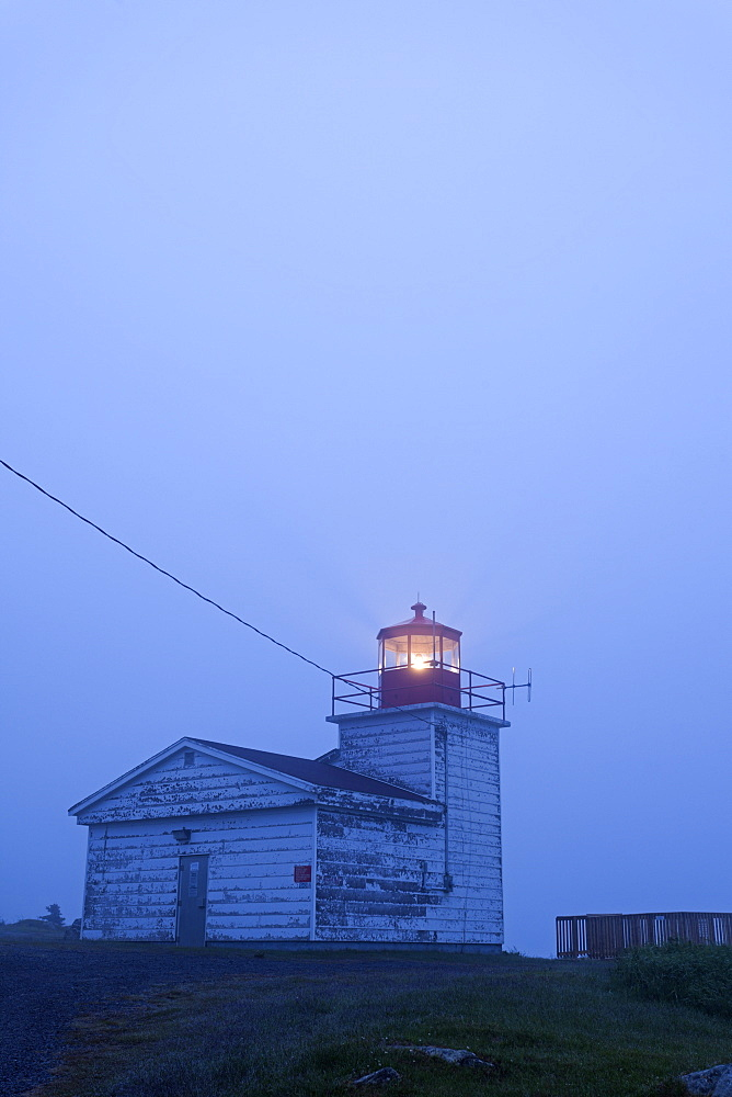Port Bickerton Lighthouse at dusk, Canada